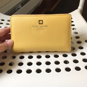 Kate Spade Yellow Compact Wallet